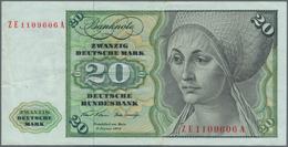 Deutschland - Bank Deutscher Länder + Bundesrepublik Deutschland: 20 DM 1970 Ersatznote Mit KN ZE110 - [ 7] 1949-… : RFA - Rep. Fed. De Alemania