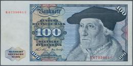Deutschland - Bank Deutscher Länder + Bundesrepublik Deutschland: 100 DM 1970, Ro.273a, Vom Adler Au - [ 7] 1949-… : RFA - Rep. Fed. De Alemania