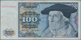 Deutschland - Bank Deutscher Länder + Bundesrepublik Deutschland: 100 DM 1970, Ro.273a, Fehldruck, S - [ 7] 1949-… : RFA - Rep. Fed. De Alemania