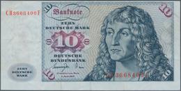Deutschland - Bank Deutscher Länder + Bundesrepublik Deutschland: 10 DM 1977, Ro.275a Fehldruck, Dru - [ 7] 1949-… : RFA - Rep. Fed. De Alemania