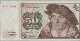 Deutschland - Bank Deutscher Länder + Bundesrepublik Deutschland: 50 DM 1977, Ro.277a Fehldruck, Dru - [ 7] 1949-… : RFA - Rep. Fed. De Alemania