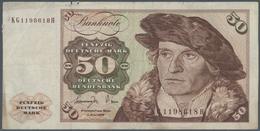 Deutschland - Bank Deutscher Länder + Bundesrepublik Deutschland: 50 DM 1977, Ro.277a, Fehldruck Mit - [ 7] 1949-… : RFA - Rep. Fed. De Alemania