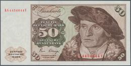 Deutschland - Bank Deutscher Länder + Bundesrepublik Deutschland: 50 DM 1980, Ro.283a Fehldruck, Tei - [ 7] 1949-… : RFA - Rep. Fed. De Alemania
