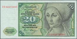 Deutschland - Bank Deutscher Länder + Bundesrepublik Deutschland: 20 DM 1980 Ersatznote Mit KN ZE040 - [ 7] 1949-… : RFA - Rep. Fed. De Alemania