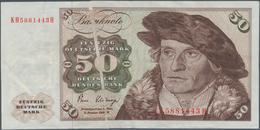 Deutschland - Bank Deutscher Länder + Bundesrepublik Deutschland: 50 DM 1980, Ro.288a Fehldruck Mit - [ 7] 1949-… : RFA - Rep. Fed. De Alemania