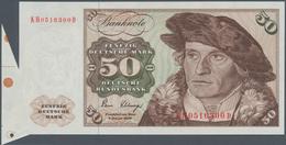 Deutschland - Bank Deutscher Länder + Bundesrepublik Deutschland: 50 DM 1980, Ro.288a Fehlschnitt Mi - [ 7] 1949-… : RFA - Rep. Fed. De Alemania