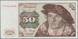 Deutschland - Bank Deutscher Länder + Bundesrepublik Deutschland: 50 DM 1980 Ersatznote Mit KN YE308 - [ 7] 1949-… : RFA - Rep. Fed. De Alemania