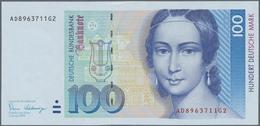 Deutschland - Bank Deutscher Länder + Bundesrepublik Deutschland: Lot Mit 6 Banknoten 10 DM 1989, 2x - [ 7] 1949-… : RFA - Rep. Fed. De Alemania