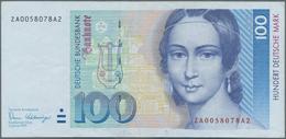Deutschland - Bank Deutscher Länder + Bundesrepublik Deutschland: 100 DM 1989 Ersatznote Mit KN ZA00 - [ 7] 1949-… : RFA - Rep. Fed. De Alemania