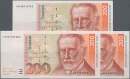 Deutschland - Bank Deutscher Länder + Bundesrepublik Deutschland: Kleines Lot Mit 3 Banknoten Zu 200 - [ 7] 1949-… : RFA - Rep. Fed. De Alemania
