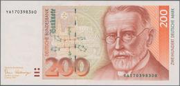 """Deutschland - Bank Deutscher Länder + Bundesrepublik Deutschland: 200 DM 1989, Ersatznote """"YA/D"""", Ro - [ 7] 1949-… : RFA - Rep. Fed. De Alemania"""