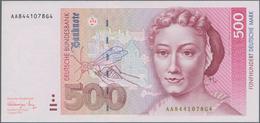 Deutschland - Bank Deutscher Länder + Bundesrepublik Deutschland: 500 DM 1991, Ro.301a In Kassenfris - [ 7] 1949-… : RFA - Rep. Fed. De Alemania