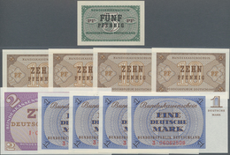Deutschland - Bank Deutscher Länder + Bundesrepublik Deutschland: Kleines Lot Mit 10 Banknoten Der A - [ 7] 1949-… : RFA - Rep. Fed. De Alemania