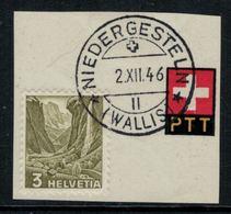 Suisse // Schweiz // Non Classée // Valais // Timbre Avec Oblitération Valaisanne Sur Fragment ( Niedergesteln) - Ohne Zuordnung