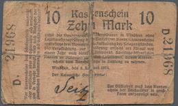 Deutschland - Kolonien: Deutsch-Südwestafrika, Kleines Lot Mit 4 Banknoten Der Ausgaben 1914 Mit 10 - Kolonien & Ausländische Banken