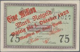 Deutschland - Notgeld - Ehemalige Ostgebiete: Pyritz, Pommern, Stadt, 100 Tsd., 500 Tsd. Mark, Aufdr - Deutschland