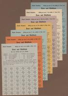 Deutschland - Notgeld: Original Sammelalbum Mit 1245 Lebensmittelkarten, Verschiedenen Belegen Und S - Deutschland