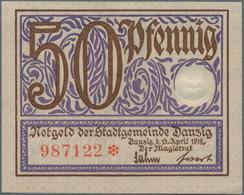 Deutschland - Notgeld: SAFE-Album Mit 72 Deutschen Notgeldscheinen, Dabei 50 Pf. Danzig 1919 Kfr. So - Deutschland