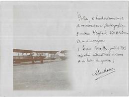 """Evere-Bruxelles Juillet 1919 Exposition Internationale Aérienne Et De Butin De Guerre Avion """" Gotha """" De Bombardement... - Aviation"""