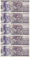 MEXIQUE 100 PESOS 1982 UNC P 74 C ( 5 Billets ) - Mexiko