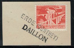 Suisse // Schweiz // Non Classée // Valais //  Oblitération Valaisanne Sur Fragment ( Erde Conthey Daillon) - Ohne Zuordnung