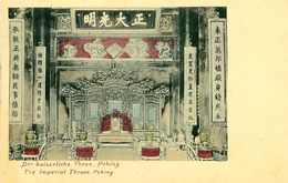 Cpa PEKIN - PEKING - The Imperial Throne - Der Kaiserliche Thron - China