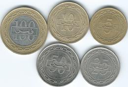 Bahrain - 1992 - 5, 10, 25 & 50 Fils; 2000 - 100 Fils (KMs 16-20) - Bahreïn