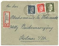 Sk1011 - MULHAUSEN ELS DORNACH - 1944 - Tarif Lettre Recommandé 42 Pfg - MULHOUSE - - Alsace Lorraine