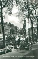 Niederlande - Amsterdam Singel Met Munitoren En Bloemenmarkt -gel. - Amsterdam