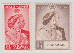 SARAWAK 1948 RSW  MNH  SET SG 165/166 SUPERB STAMPS - Sarawak (...-1963)