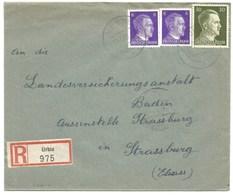 Sk1014 - URBIS - 1943 - Tarif Lettre Recommandé 42 Pfg - URBES - - Alsace Lorraine