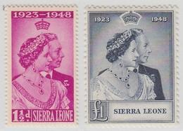 SIERRA LEONE 1948 RSW  MNH  SET SG 203/204 SUPERB STAMPS - Sarawak (...-1963)