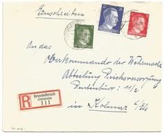 Sk1016 - GRENDELBRUCH - 1943 - Tarif Lettre Recommandé 42 Pfg - - Alsace Lorraine