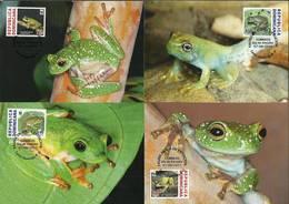 Dominican Republic 2011 Mi 2232-2235  Max Card ( MAX ZS2 DOR2232-2235 ) - Reptilien & Amphibien