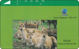Indonesien Phonecard Tamura Rehe Dammwild Deern - Indonesien