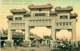 Cpa PEKIN - PEKING - Ketteler Monument - Denkmal - China