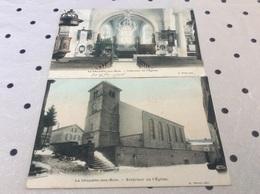 LA CHAPELLE AUX BOIS. Intérieur Extérieur De L'église LOT DE 2 CARTES ♥️ - Sonstige Gemeinden