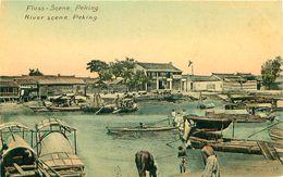 Cpa PEKIN - PEKING - River Scene - Fluss Scene - China