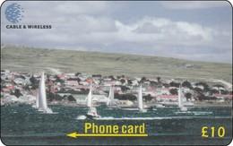 Falkland Phonecard City Schiffe - Falkland