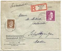 Sk1027 - STRASSBURG ELS 3 - 1942 - Tarif Lettre Recommandé Sur Affranchi 43 Pfg Au Lieu De 42 - STRASBOURG - - Alsace Lorraine