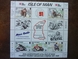 1991  80th Anniversary Of The Isle Of Man Tourist Trophy Mountain Course  SG = 478 / 482  **  MNH - Man (Insel)