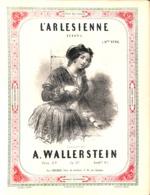 L'Arlesienne, Redowa, Partition Ancienne, Grand Format, Couverture Illustrée Janet. - Scores & Partitions