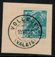 Suisse // Schweiz // Non Classée // Valais //  Oblitération Valaisanne Sur Fragment ( Vollèges) - Ohne Zuordnung