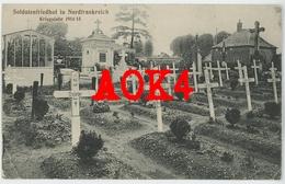 80 Somme HAM Cimetiere Militaire Allemand 1914 Feldpost 1916 Soldatenfriedhof In Nordfrankreich Muille Villette - Ham