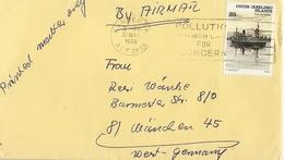 Cocos (Keeling) Islands 1978 -  Lettre Poste Aérienne De Canberra/ Nouvelle-Zélande à München/Allemagne - Sc 26 - Kokosinseln (Keeling Islands)