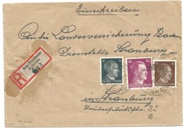 Sk1031 - SCHÄFFERSHEIM- 1943 - Tarif Lettre Double Port Recommandé 54 Pfg - SCHAEFFERSHEIM - - Alsace Lorraine