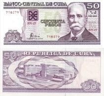 CUBA 50 Pesos P 123 E 2008 UNC - Cuba