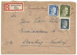 Sk1033 - MOMMENHEIM - 1944 - Tarif Lettre Double Port Recommandé 54 Pfg - - Alsace Lorraine