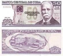 CUBA 50 Pesos P 123 F 2009 UNC - Cuba