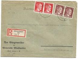 Sk1036 - DIEMERINGEN - 1944 - Tarif Lettre Double Port Recommandé 54 Pfg - Entête MAIRIE - - Alsace Lorraine